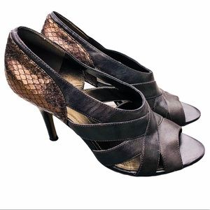 Tahari Snake Embossed Heels! V/GUC!